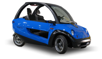 TANGO 3 Wheel Scooter Car Neon Blue